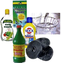 Various cleaning agents
